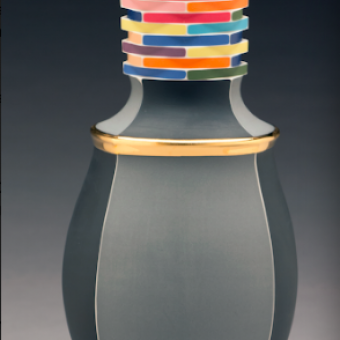 Vase (with multifacetic neck)