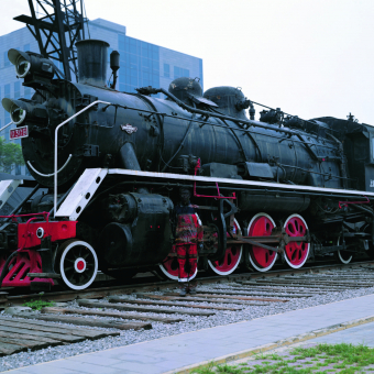 Decorated with the Locomotive (Hiding in the City No. 73)